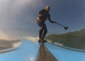 Saunton stand up paddle surfing