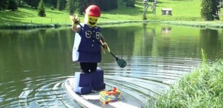 lego man goes SUPing