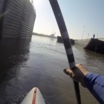 Standup Paddle the Mississippi River--Alton, Illinois to St. Louis Gateway Arch.