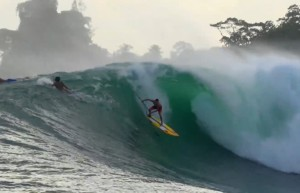 SUP surfing Panama's Heaviest Wave