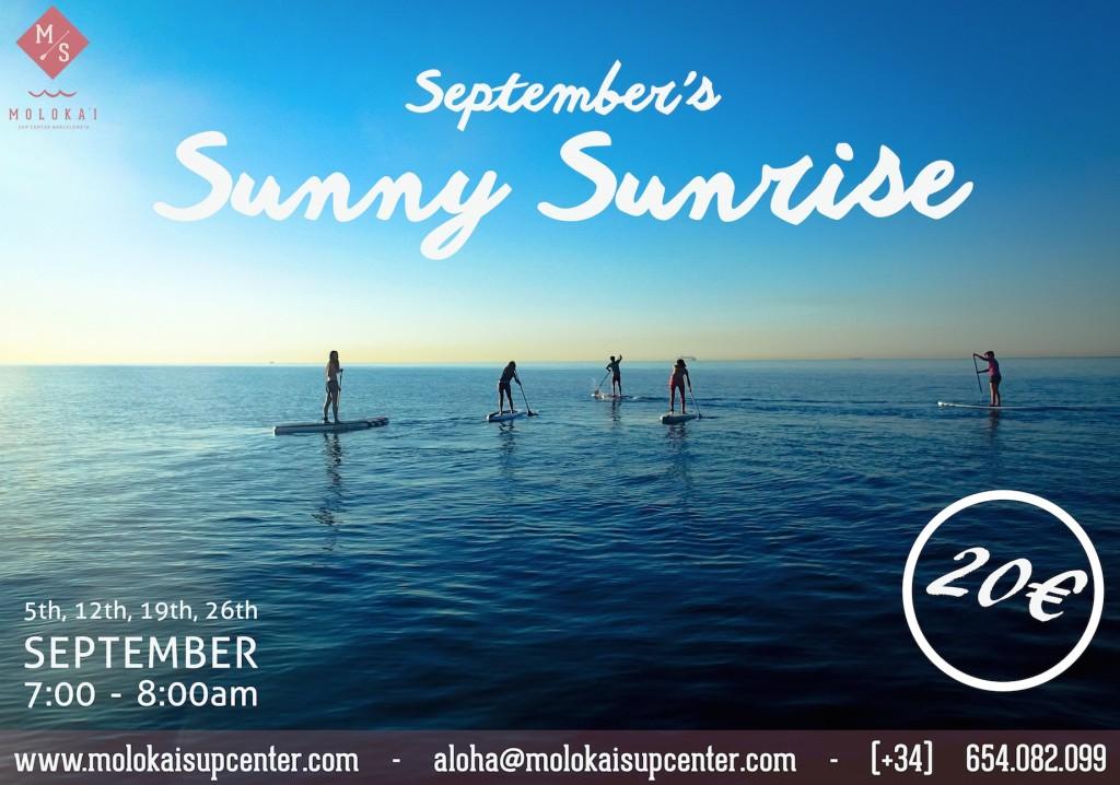 SEPTEMBER'S SUNNY SUNRISE  @ Barcelona