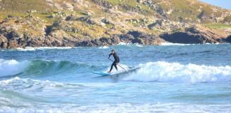 Loco paddlesurfing in Scotland