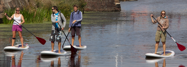 Paddleboarding it sociable
