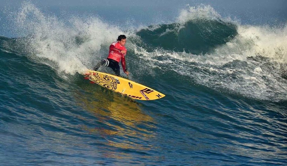 Kai Lenny using his Quad fin setup.