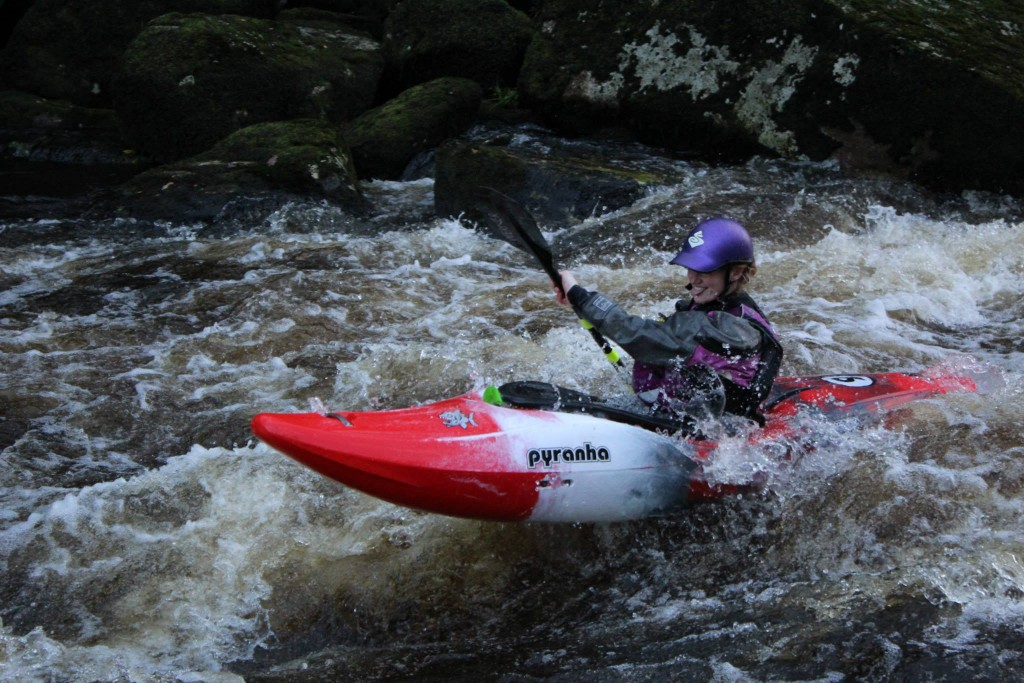 White Water Paddler Amy Elworthy - photo Dave Smith
