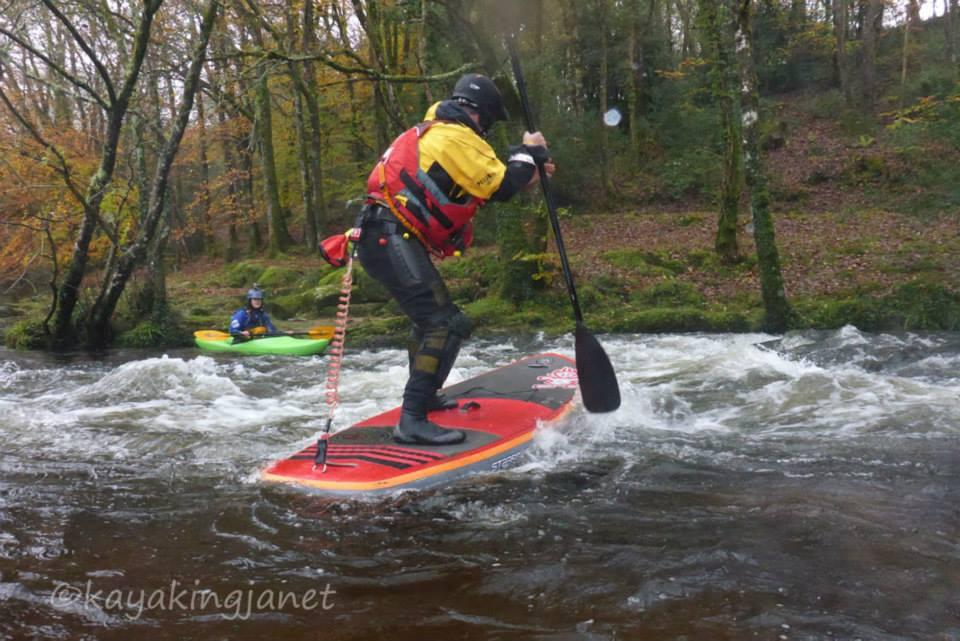 Martin Tillman on the River Dart - photo kayakingjanet