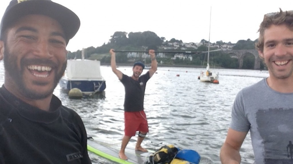 Will and the SUP for Sanctuary paddlers on the river Tamar