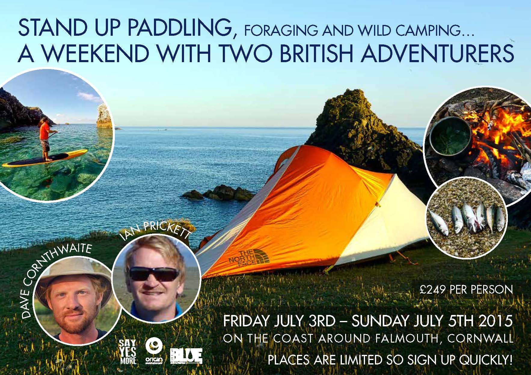 SUP and wild camping weekend with two British adventurers