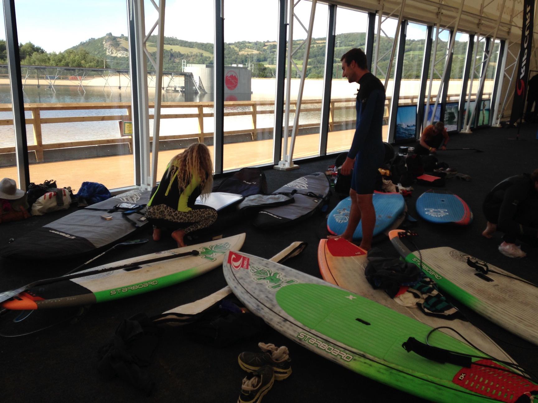 Surf Snowdonia - Team Starboard SUP the first public Wave Garden