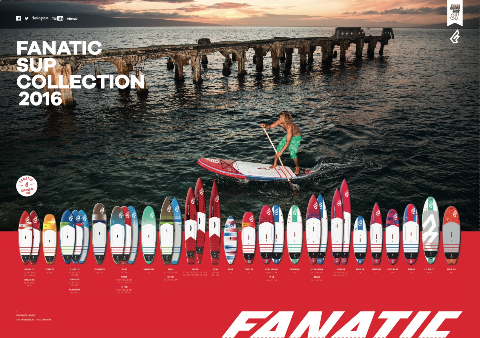Fanatic SUP range for 2016