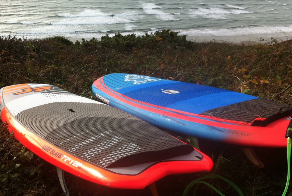 The Starboard Hyper Nut and JP Surf Slate