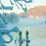 A magical SUP winter adventure in Norway