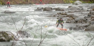 Paul Clark & crew take on the Hood River Whitewater SUP