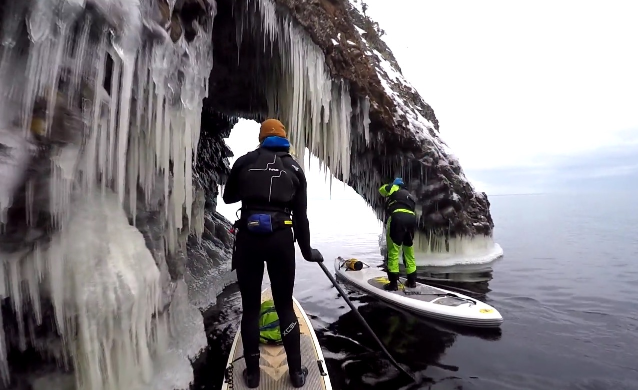 SUPerior Winter SUP paddling