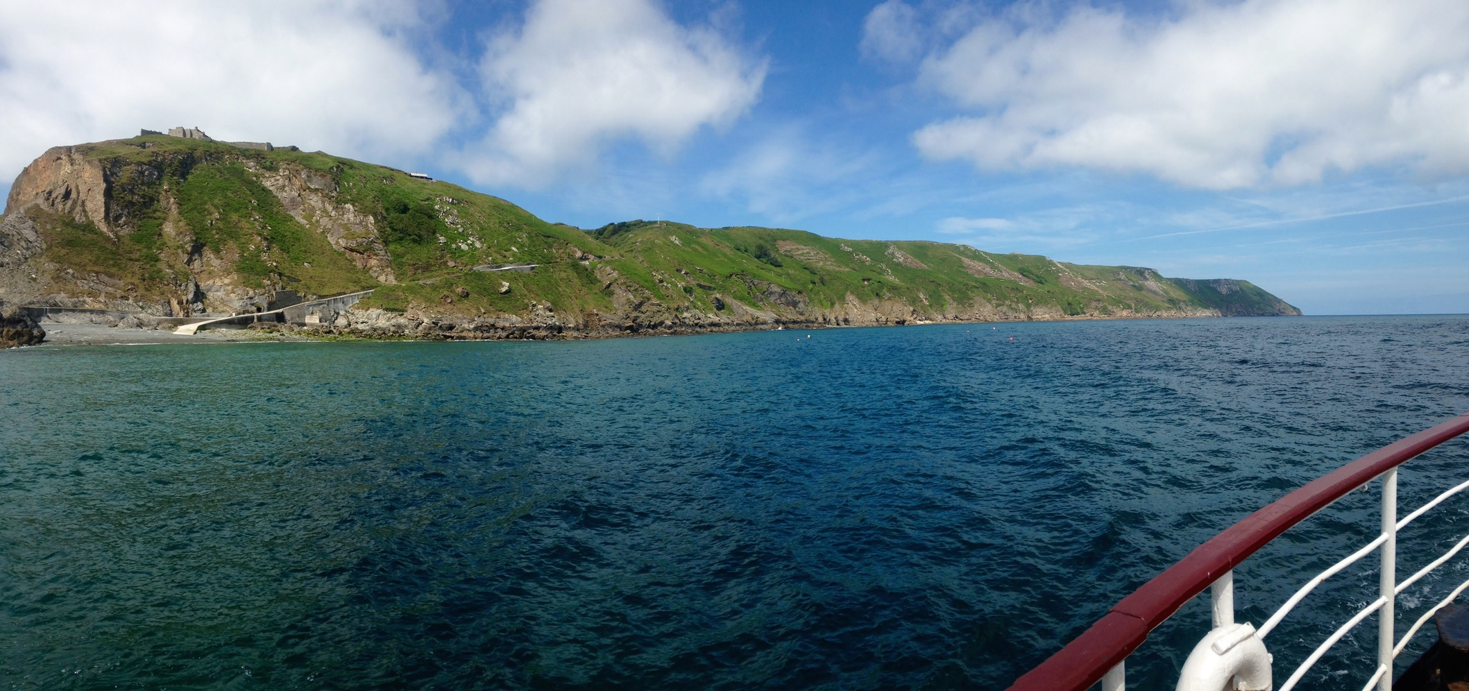 Our first sight of Lundy!