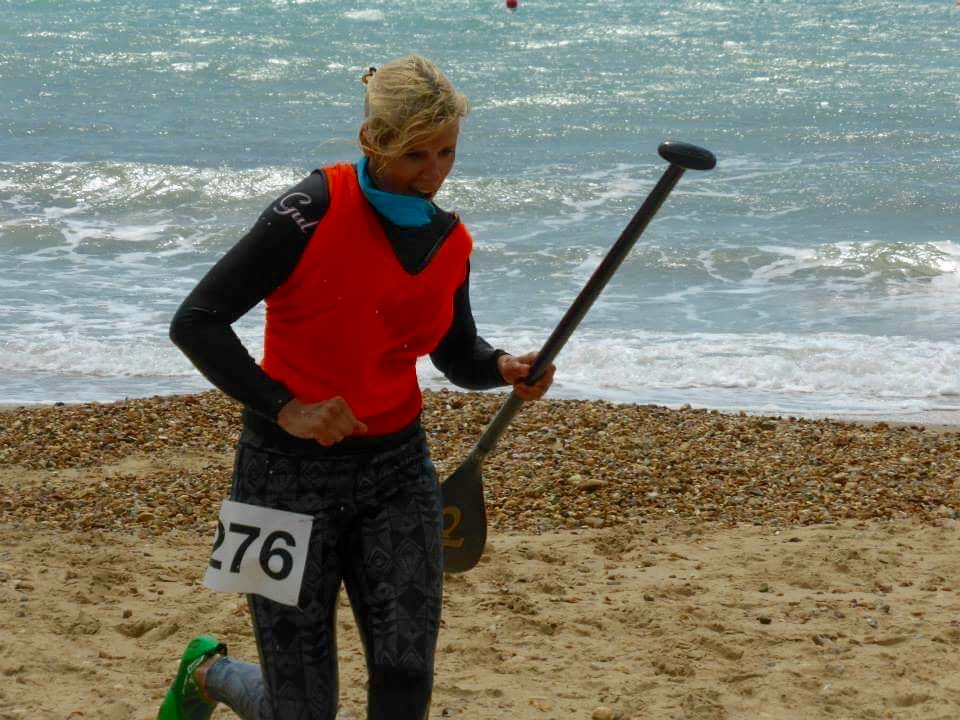 Emily racing at Hove Lagoon July 2015