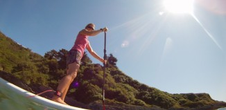 getting up on a SUP