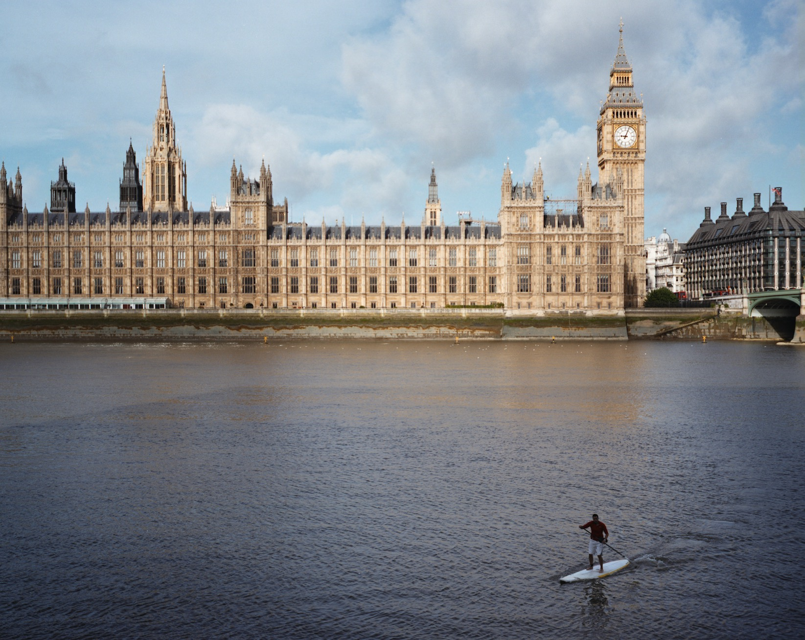 Big Ben London SUP race