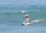 Paddling in Surf Stance