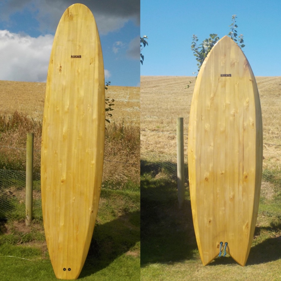 The standard range - the Knocker longboard and fish