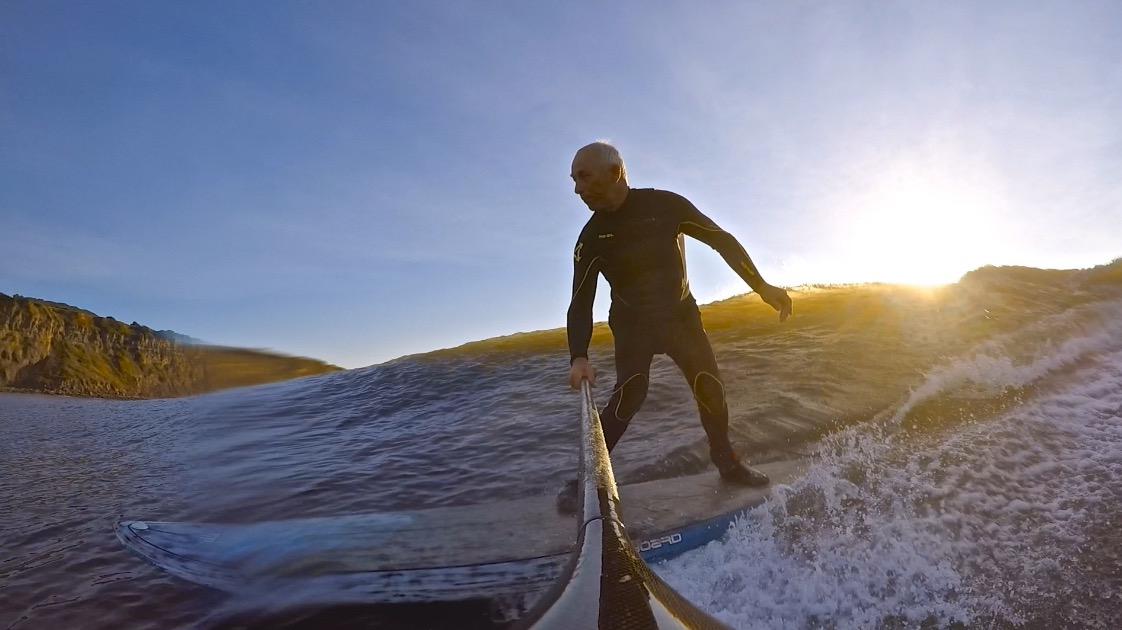 You're never too old for SUP surfing