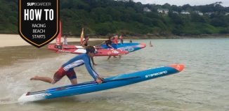 SUP racing beach starts