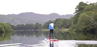 Paddling on lakes