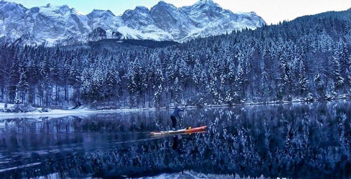 Winter Paddling in the German Alps