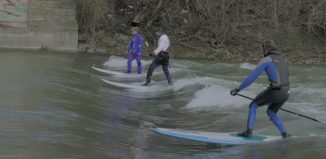 river surfing in Munich