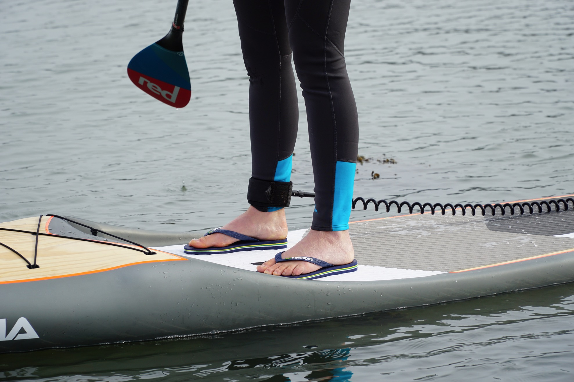 What to wear on your feet paddleboarding? - flip flops