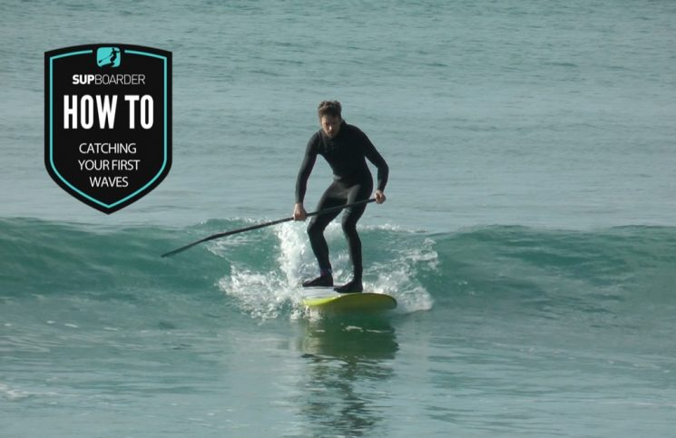 Catching your first waves on a SUP