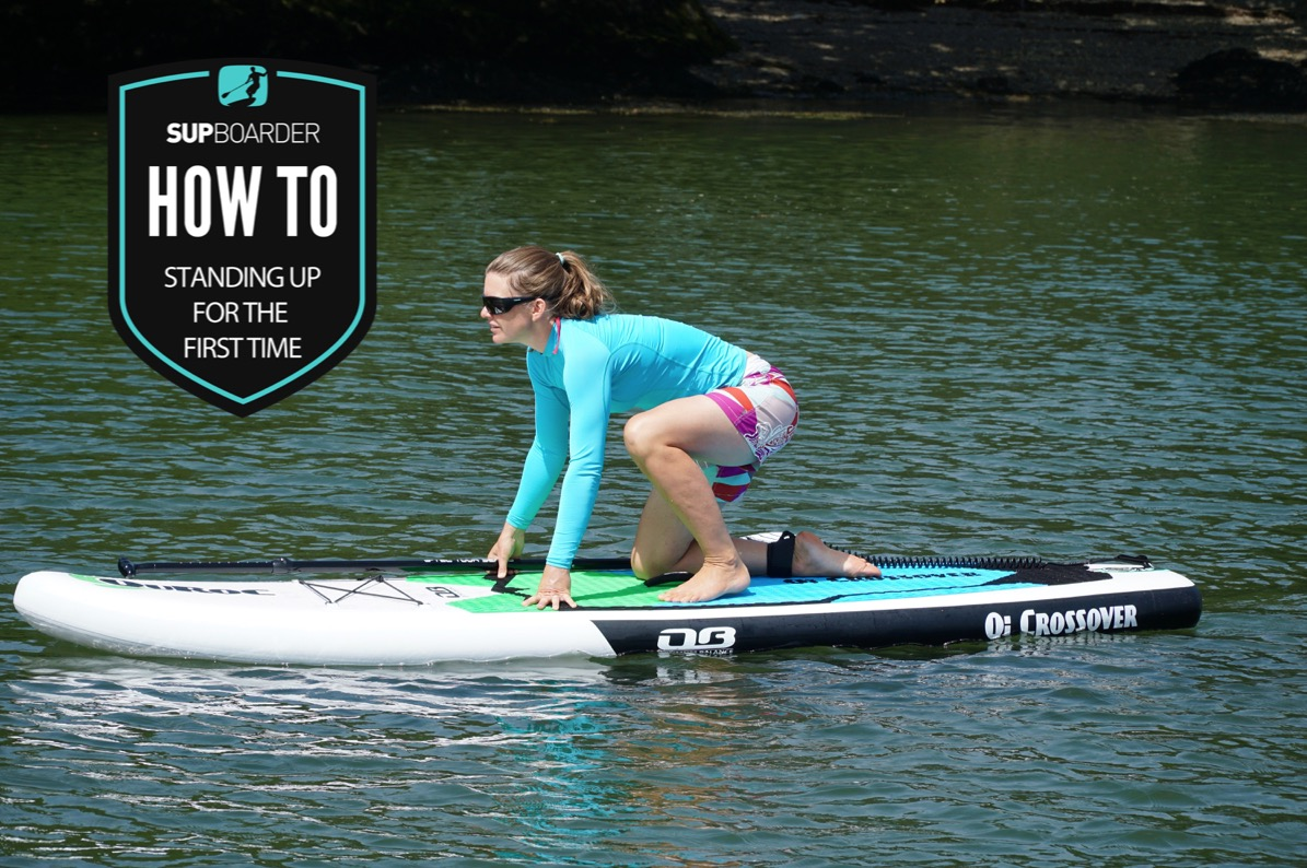 Standing up for the first time on a SUP